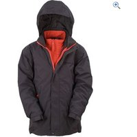 Hi Gear Revel Childrens 3-in-1 Jacket (with Insulated Inner Jacket) - Size: 11-12 - Colour: Graphite-Red