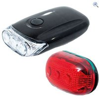 Raleigh RX9.0S 3 Led Front & 5 Led Rear Light Set - Colour: Black