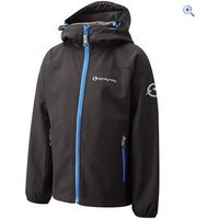 Sprayway Trojan Childrens Softshell Hoody - Size: 8 - Colour: Black / Blue