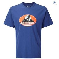 GO Outdoors GO Hiking Mens Tee - Size: M - Colour: Blue