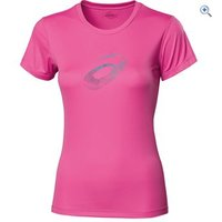 Asics Womens Graphic Running T-Shirt - Size: S - Colour: Pink
