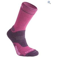 Bridgedale WoolFusion Trekker Womens CuPED Walking Sock - Size: L - Colour: Berry