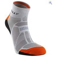 Hilly Marathon Fresh Anklet Sock - Size: M - Colour: Grey-Orange