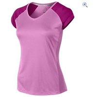 Nike Miler Short Sleeve V-Neck Womens Tee - Size: XS - Colour: RED VIOLET