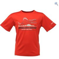 Regatta Starcrest Kids Tee - Size: 34 - Colour: Pepper Red