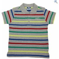 Trespass Grover Boys Polo - Size: 3-4 - Colour: GREY MARL