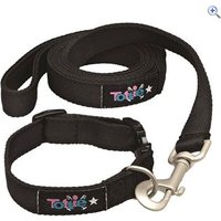 Tottie Dog Collar and Lead Set - Size: M - Colour: Black