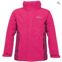 Regatta Obstacle II Childrens Waterproof Jacket - Size: 3-4 - Colour: JEM-DK CERISE