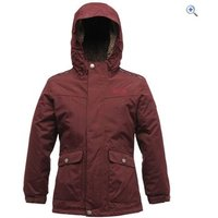 Regatta Akela Kids Waterproof Jacket - Size: 34 - Colour: DARK BURGUNDY