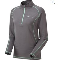 The Edge Carve Womens Zip Neck Midlayer - Size: 22 - Colour: GRAPHITE-MINT