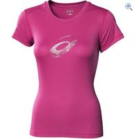 Asics Womens Graphic Running T-Shirt - Size: XS - Colour: Magenta