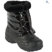 Hi Gear Girls Alpine Winter Boot - Size: 10 - Colour: BLACK GLOSS