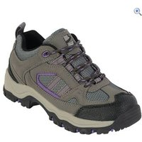 Freedom Trail Lowland II Girls Walking Shoe - Size: 4 - Colour: GREY-MULBERRY