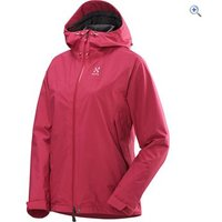 Haglfs Lepus Womens Waterproof Jacket - Size: 14 - Colour: VOLCANIC PINK