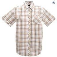 Regatta Deakin Mens Short-Sleeved Shirt - Size: XXL - Colour: NUTMEG CREAM