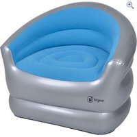 Hi Gear Inflatable Single Chair - Colour: Blue / Grey
