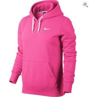 Nike Club Swoosh Womens Hoodie - Size: XS - Colour: Pink-White