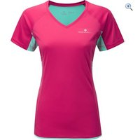Ronhill Aspiration S/S Womens Running Top - Size: 16 - Colour: Pink