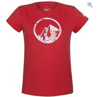 North Ridge Poppy Womens Tee - Size: 14 - Colour: Red