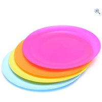 Hi Gear 4 Piece Round Plate Set - Colour: Assorted