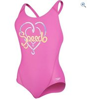 Speedo Girls Logo Placement Splashback Swimsuit - Size: 26 - Colour: Pink