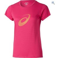 Asics Womens Graphic Running T-Shirt - Size: M - Colour: ULTRA PINK