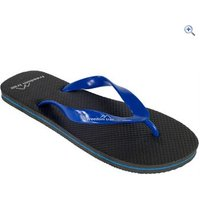 Freedom Trail Wave Mens Flip Flop - Size: 48 - Colour: Black / Blue