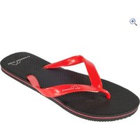 Freedom Trail Wave Mens Flip Flop - Size: 45 - Colour: Black / Red