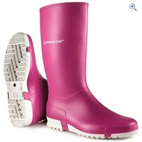 Dunlop Kids Sport Wellies - Size: 38 - Colour: Pink-White