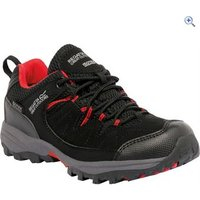 Regatta Holcombe Low Jnr Walking Shoe - Size: 1 - Colour: Black-Pepper