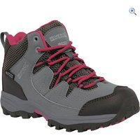 Regatta Holcombe Mid Jnr Walking Boot - Size: 2 - Colour: STEEL-VIVACIOUS