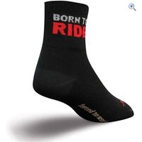 SockGuy Born To Ride Socks (Classic 3) - Size: S-M - Colour: Black