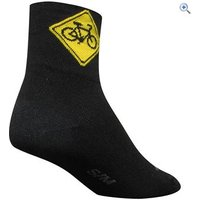 SockGuy Share The Road Socks (Classic 3) - Size: S-M - Colour: Black