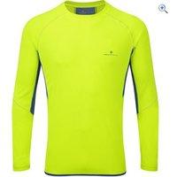 Ronhill Mens Vizion L/S Crew - Size: S - Colour: FLUO-COBALT