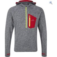 Ronhill Mens Momentum Victory Hoodie - Size: L - Colour: GREY MARL-RED