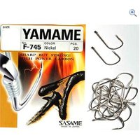 Sasame F-745 Yamame-Nickel Hooks (size 6, pack of 20)