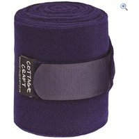 Cottage Craft Fleece Bandages (Set of 4) - Colour: Purple