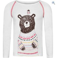 Animal Beau Bear Long Sleeve Kids Tee (Sizes 2-6) - Size: 5-6 - Colour: White