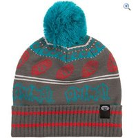 Animal Aari Kids Knitted Bobble Beanie - Colour: PEWTER GREY
