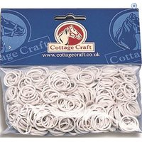 Cottage Craft Rubber Plaiting Bands (500) - Colour: White