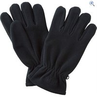 Hi Gear Windproof Fleece Glove - Size: S-M - Colour: Black