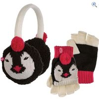 Animal Flumserberg Kids Flip Mitt and Earmuff Gift Set - Colour: Black