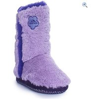 Trespass Alice Girls Fluffy Slippers - Size: 31-32 - Colour: Purple