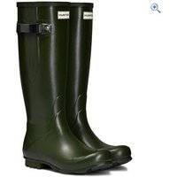 Hunter Womens Norris Field Side Adjustable Wellington Boots - Size: 8 - Colour: Green