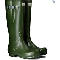 Hunter Mens Norris Field Side Adjustable Wellington Boots - Size: 10 - Colour: Green