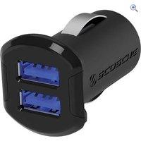 Scosche reVOLT dual 12W USB Car Charger with Illuminated USB Ports.