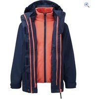 Hi Gear Trent II Kids 3-in-1 Jacket - Size: 3-4 - Colour: NVY-HOT CORAL