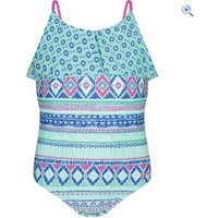 Animal Shell Bay Girls Swimsuit (7-12) - Size: 7-8 - Colour: PEPPERMINT BLUE