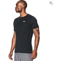 Under Armour Mens Threadborne Streaker Run Short Sleeve T-Shirt - Size: XXL - Colour: BLACK BLACK
