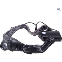 OEX Zoomster 3W LED Headlight - Colour: Black